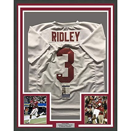 detailed look d2653 8eae0 Autographed Calvin Ridley Jersey - FRAMED 33x42 White COA ...