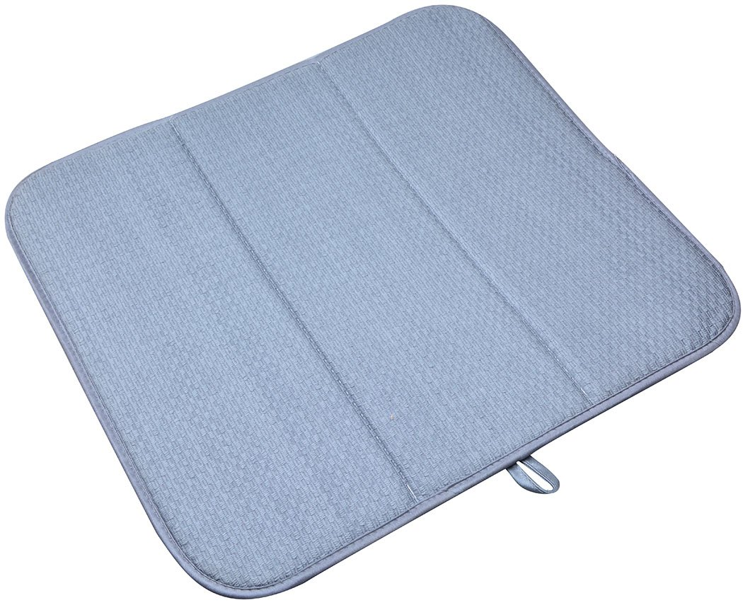 Amazon.com: 16 Inch X 18 Inch Microfiber Dish Drying Mats Super  Absorbent(Grey.): Kitchen U0026 Dining