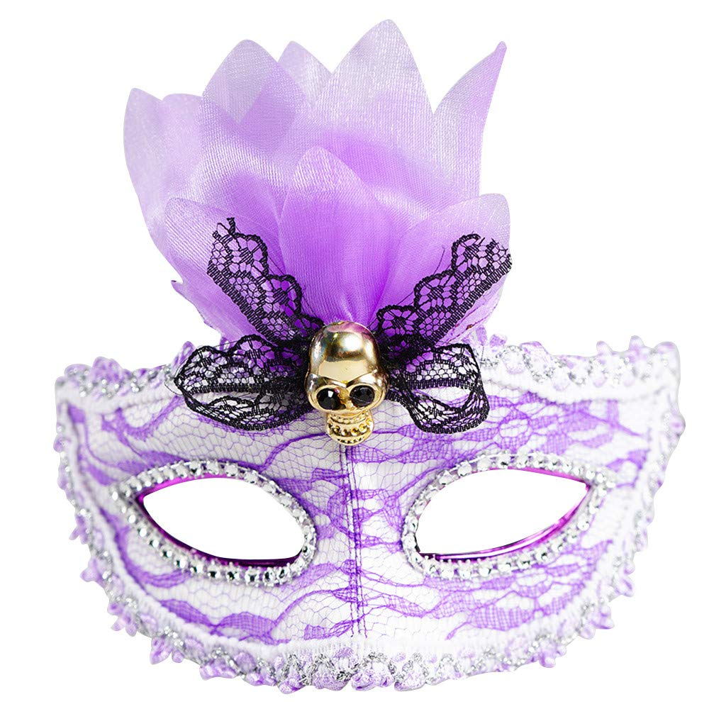 CreazyBee Halloween Bar Color Mask LED Glowing Luminous 7 Color Lights Eye Mask Dancing Party Festival Christmas (Purple) by CreazyBee
