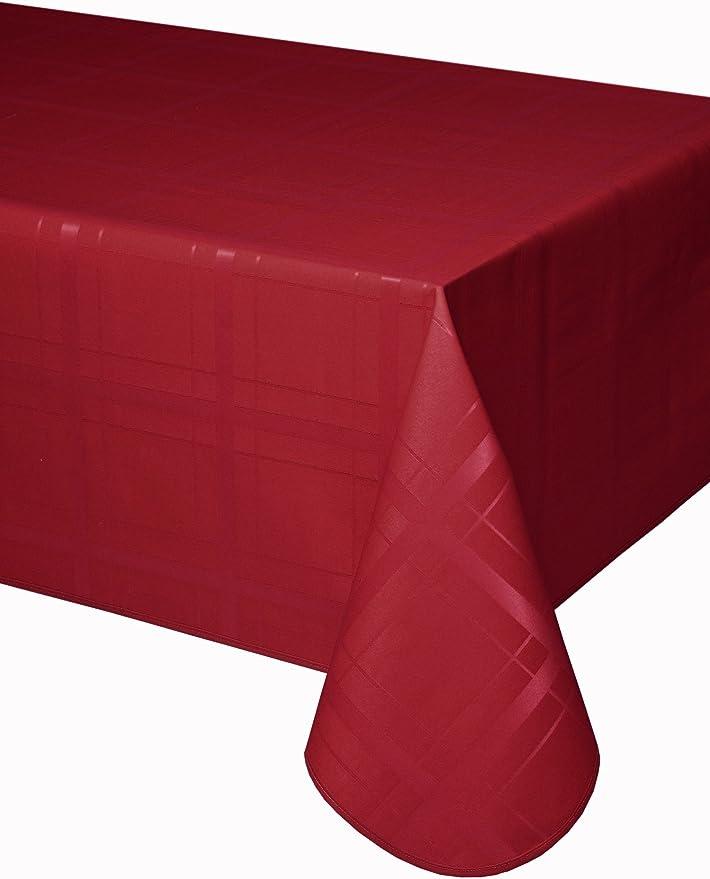 Mantel antimanchas Cuadros 50% algodón 50% poliéster con doble protección de resina y Teflón de Dupont®: Amazon.es: Hogar