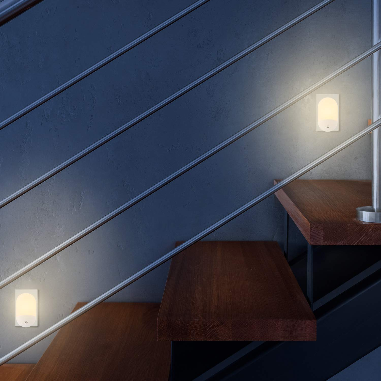 Blanc Chaud Veilleuse Enfant Classe /énerg/étique A++ EKKONG Lampe de Chevet Enfant Veilleuse Prise Electrique avec Capteur Cr/épusculaire