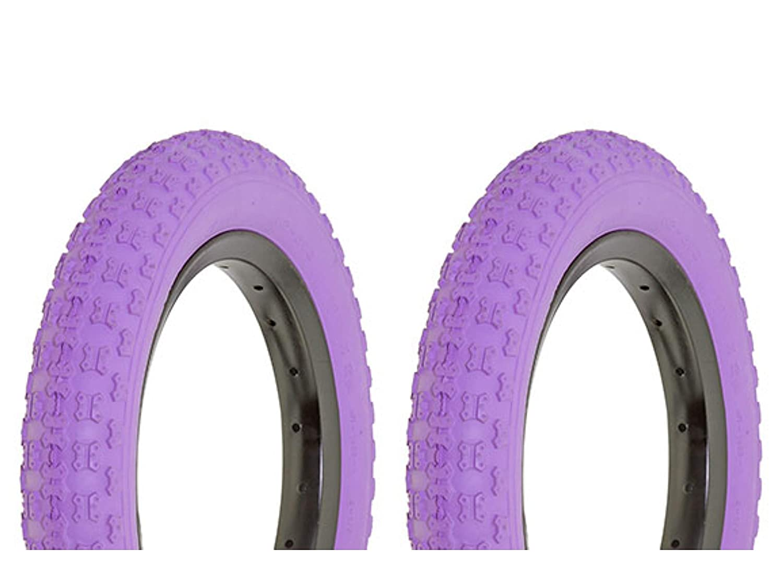 Lowrider タイヤセット 2タイヤ 2タイヤ デュロ 12 1/2インチ x 2 1/4インチ パープル/パープル サイドウォール HF-143G   B07KV2QFN7