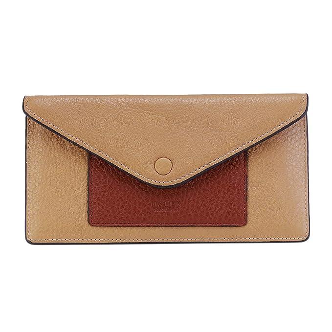 Amazon.com: Billetera de cuero para mujer con bloqueo RFID y ...