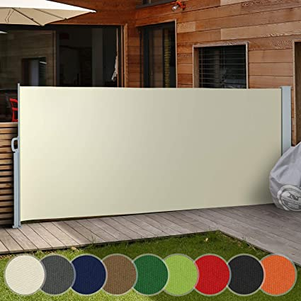 promo code 01bb8 7083b Retractable Side Awning - in Different Colours and Sizes 160x300cm  180x300cm 200x300cm - Outdoor Privacy Screen for Balcony, Terrace and  Garden, ...