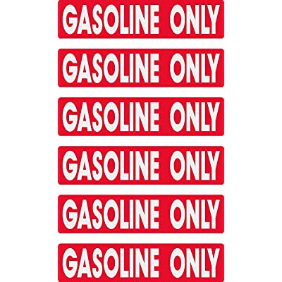 gasoline only, prime, fast delivery, 6 decals as shown, waterproof, laminated, UV fade protected, alert, warning, caution, notice, stickers, decals, for vehicle, car, truck, barrel, can, sign: Everything Else