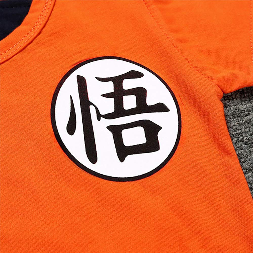 C3, 100 2 Pack Cosplay Newborn Infant Jumpsuit Clothes Allister Dragon Ball Goku Baby Costume