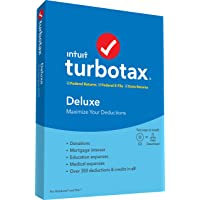 TurboTax Tax Software Deluxe + State 2019 + Quicken Deluxe Personal Finance Deals
