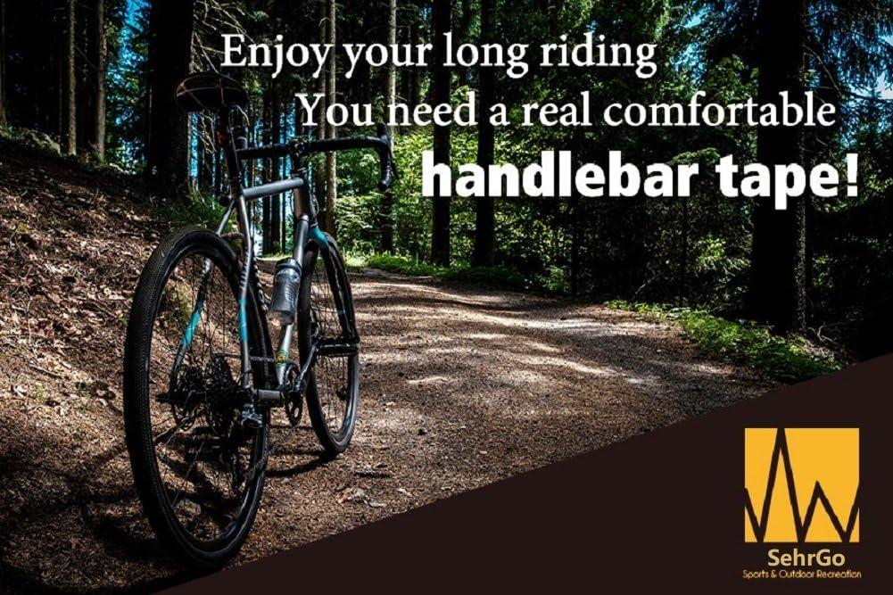 2pcs por juego SehrGo Piel sint/ética para bicicleta de carretera mtb manillar cinta Bar cinta Wrap