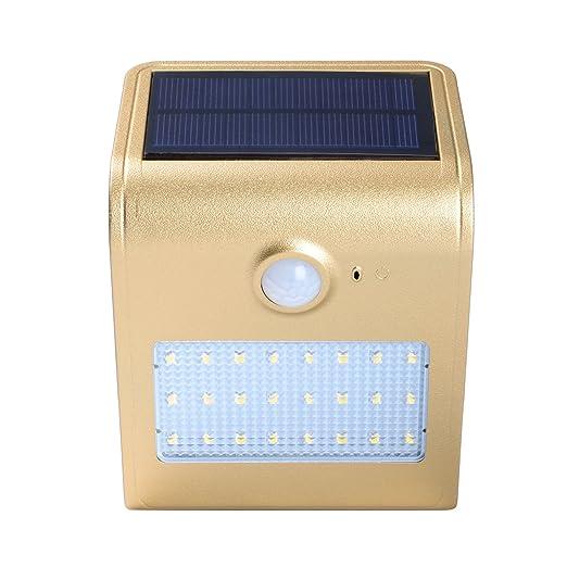 Zoeson 24 LED luz solar luz de sensor de movimiento nocturno con ...
