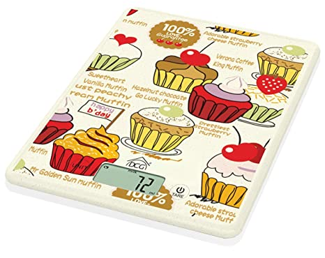 DCG Báscula de Cocina electrónica pwc8058 diseño de Cupcake
