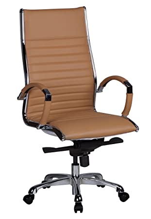 Schreibtischstuhl design  AMSTYLE office chair SALZBURG 1 reference Caramel leather desk ...