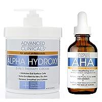 Advanced Clinicals Alpha Hydroxy Acid Skin Care Set. Anti-aging set includes Alpha...