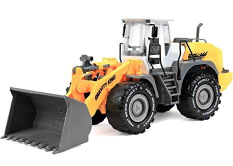 amazon com click n play friction powered jumbo bulldozer tractor