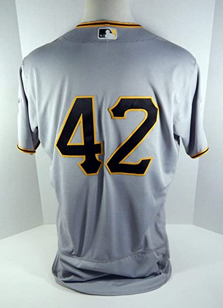 5c884848746 2018 Pittsburgh Pirates Jordy Mercer  42 Game Used Grey Jackie Robinson  Jersey - Game Used