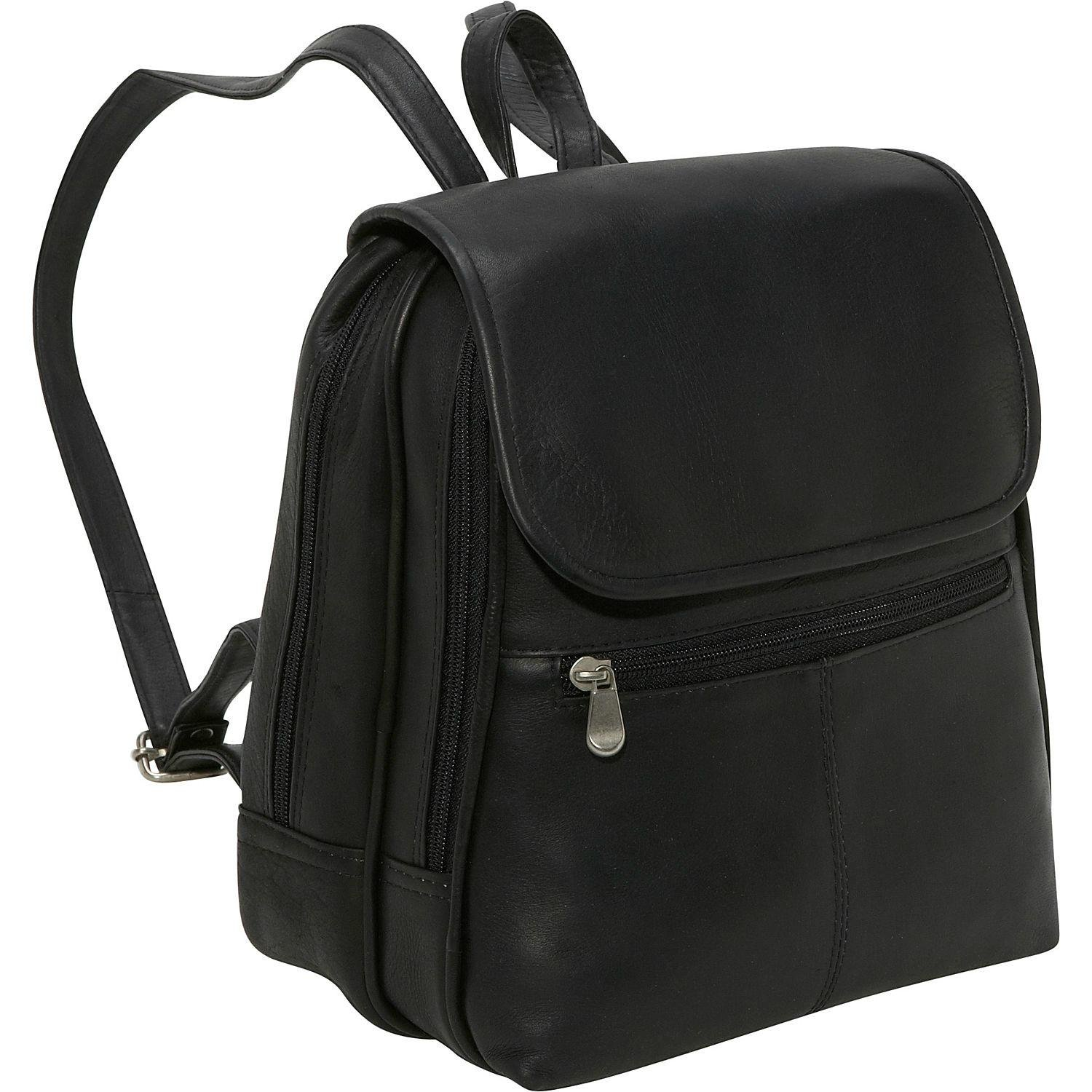 Le Donne Leather Everything Women's Backpack/Purse, One Size, Black by Le Donne Leather