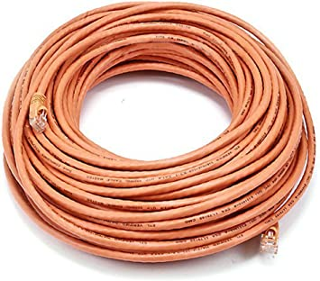 1FT CAT6 RJ-45 Ethernet LAN Network Patch Cable UTP Copper Wire 24AWG Orange