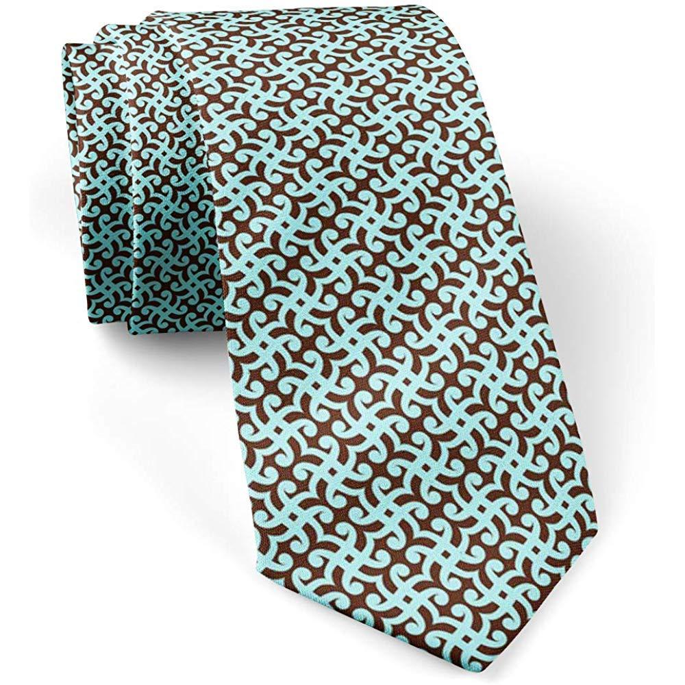 Warm Night Corbata flaca delgada geométrica negra azul para ...