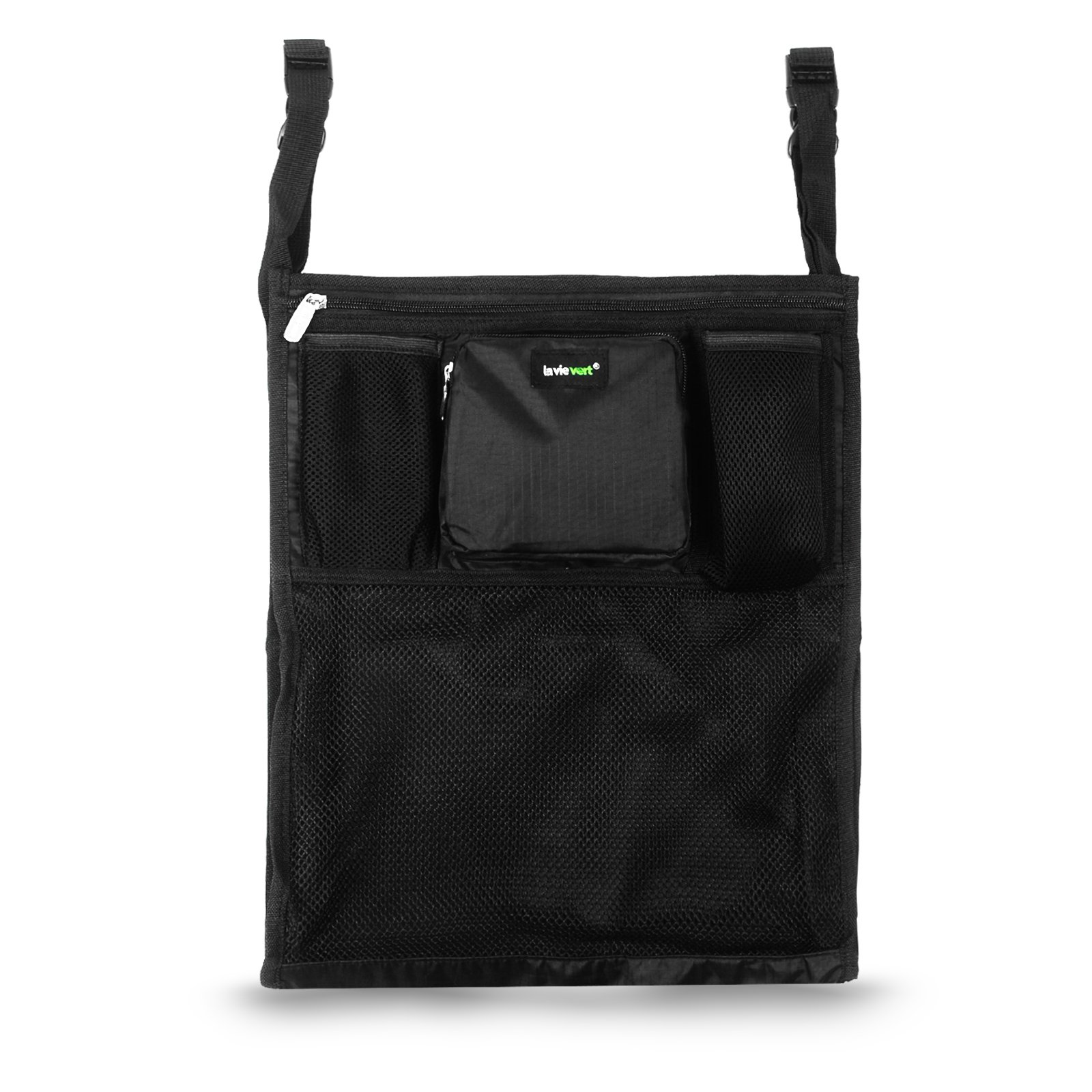 Lavievert Universal Stroller Organizer Diaper Bag Stroller Accessories Pack with Drink Holders and Zipped Pockets Can Be Used As an Attachment For Car, Shopping Cart, Bike While Travelling or Outings