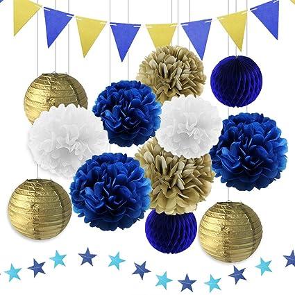 Amazon.com: Azul marino decoraciones de fiesta de cumpleaños ...