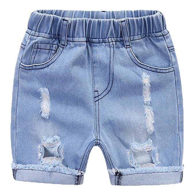 NiSeng Niños Vaqueros Shorts Rotos Verano Casual Pantalones ...