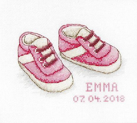 Luca-S® - Kit de punto de cruz - Zapatos de bebé niña ...
