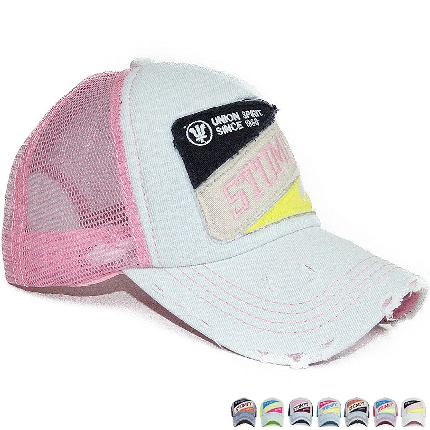 Summer Sun Lady's Women's Baseball Hats Washed Cotton Bright Color Snapback Caps