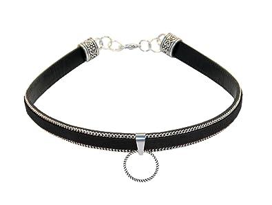 Collier  TAYGETA BLACK  70008, collier, SM, Gothique, anneau du O ... 13c139efca8f