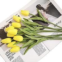 Barakara Tulipa artificial, 15 peças, tulipa de seda sintética, flores de toque real, tulipas para decoração de casa…