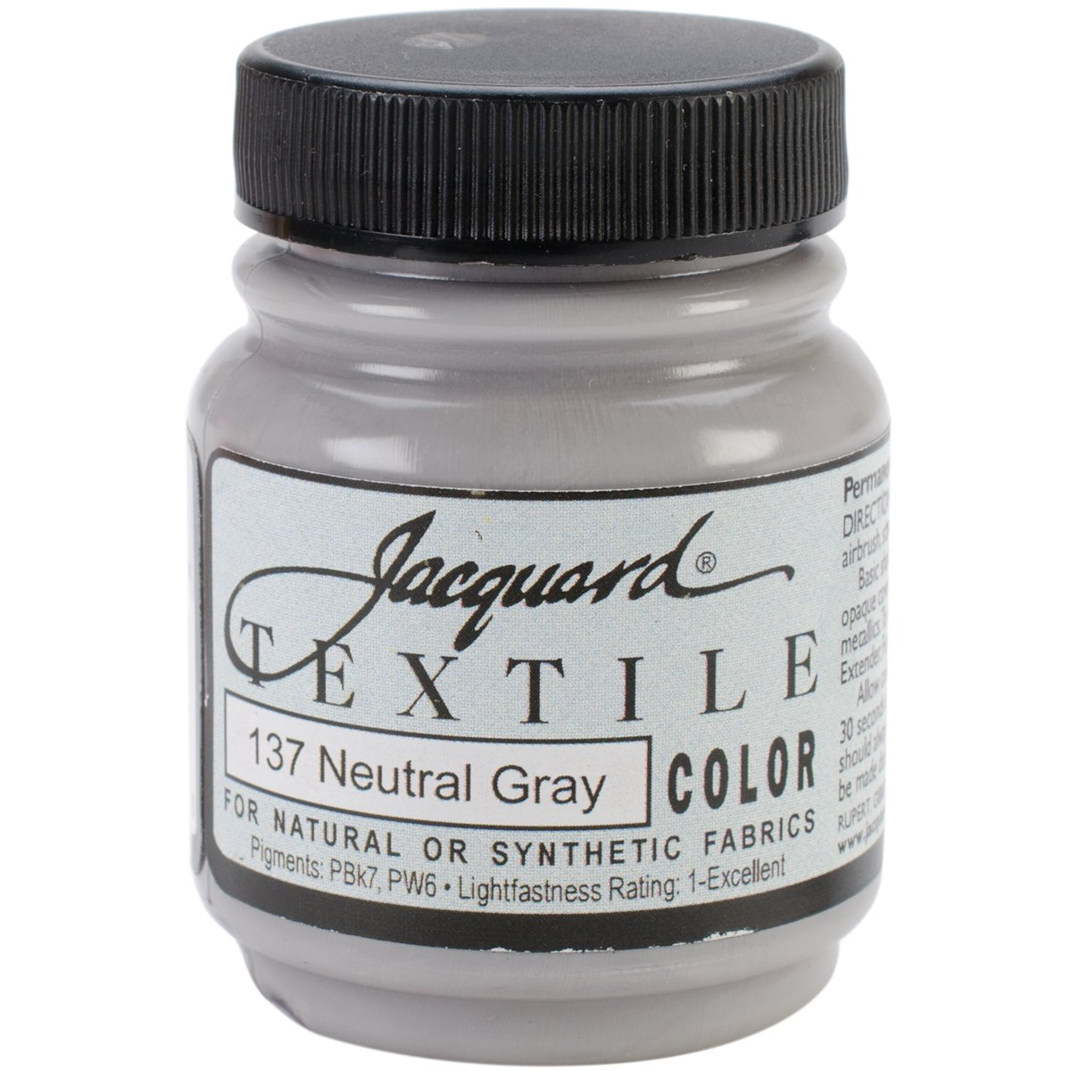Jacquard Textile Color Fabric Paint 2.25 Ounces-Neutral Gray 2
