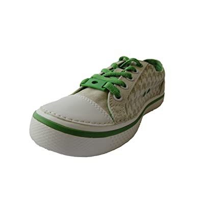Crocs Hover Checkered Lace-Up Sneaker (Toddler/Little Kid/Big Kid),Stucco/Lime,10 M US Toddler