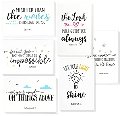 amazon com 48 pack inspirational bible verse quote greeting cards