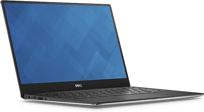 Dell XPS 13 9360 13.3in Laptop 7th Gen Intel Core i5-7200U, 8GB RAM, 128 GB SSD Machined Aluminum Display Silver Win 10 (Renewed)