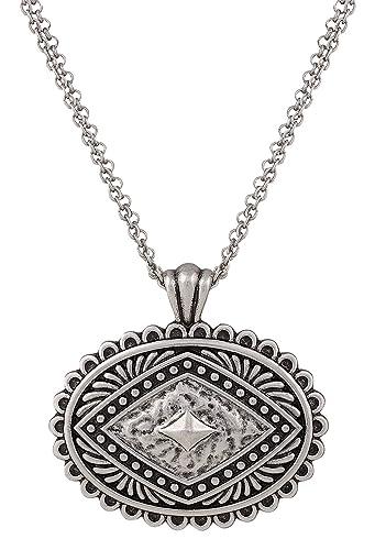 Amazon Rock 47R Silver Concho Necklace Jewelry