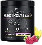 Electrolyte Powder w Real Salt® +BCAAs +B-Vitamins (90 Servings   Lemon Berry) Sugar Free Electrolyte Supplement w Potassium Zinc & Magnesium for Complete Hydration & Recovery - Keto Electrolytes