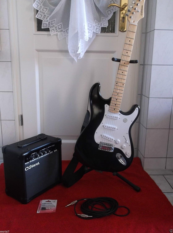 C. GIANT S de guitarra S de modelo negro con diapasón de ...