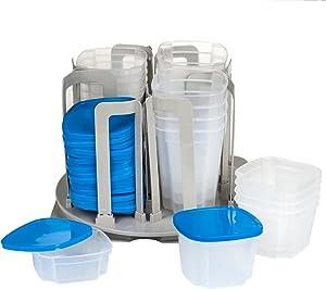 Chef Buddy 49 Piece Swirl Around Food Storage Organizer, Blue