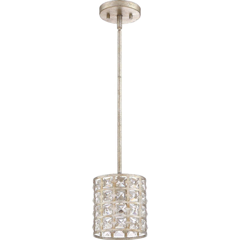 Quoizel LXY1506VG Luxury Crystal Mini Pendant Lighting, 1-Light, 100 Watts, Vintage Gold 8 H x 7 W