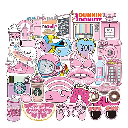 Waterproof Stickers Lovely Aesthetic Vinyl Sticker Decals For Teen Girls Aesthetic Perfect For Laptop Macbook Skateboard Motorcycle Luggage
