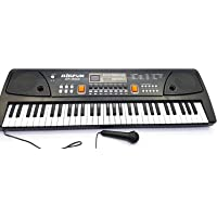 Amitasha Bigfun 61 Keys Piano Keyboard Toy with Recording and Mic and Mobile Charger Power Option
