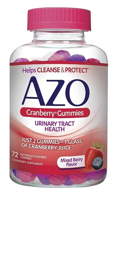 Cranberry Gomitas, mezclado sabor a bayas, 72 Gummies - Azo