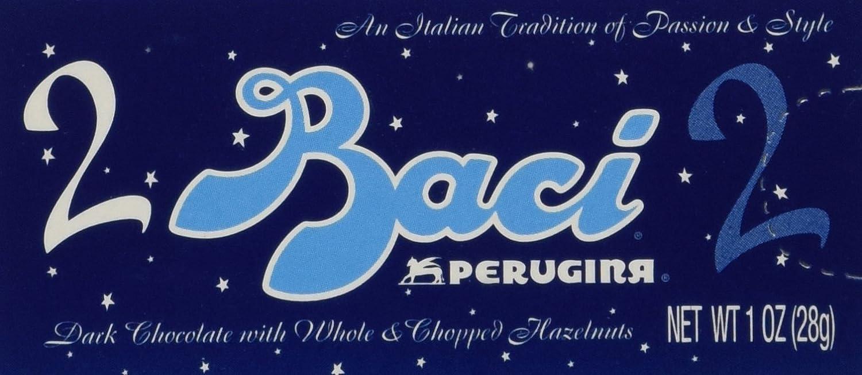 Amazon.com : Perugina Baci Dark Chocolate 2pc 1 Ounce Display ...
