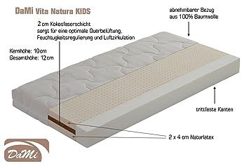 Dami Naturlatex Kokos Matratze Vita Natura Kids 60x120 Cm