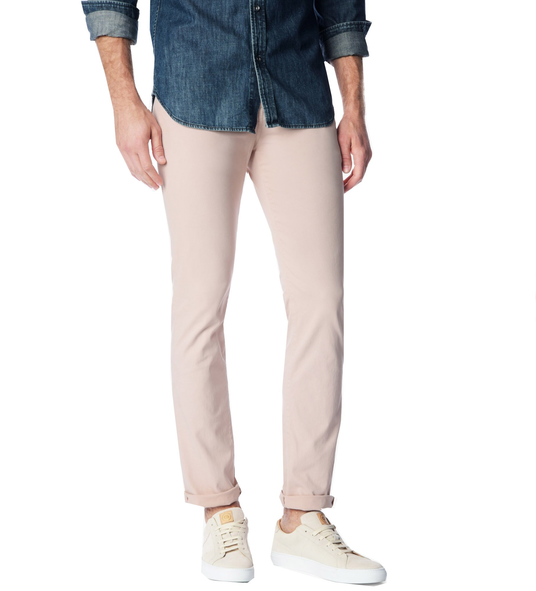 7 For All Mankind Men's Luxe Performance Sateen 'The Straight' Pants (28, Desert Rose)
