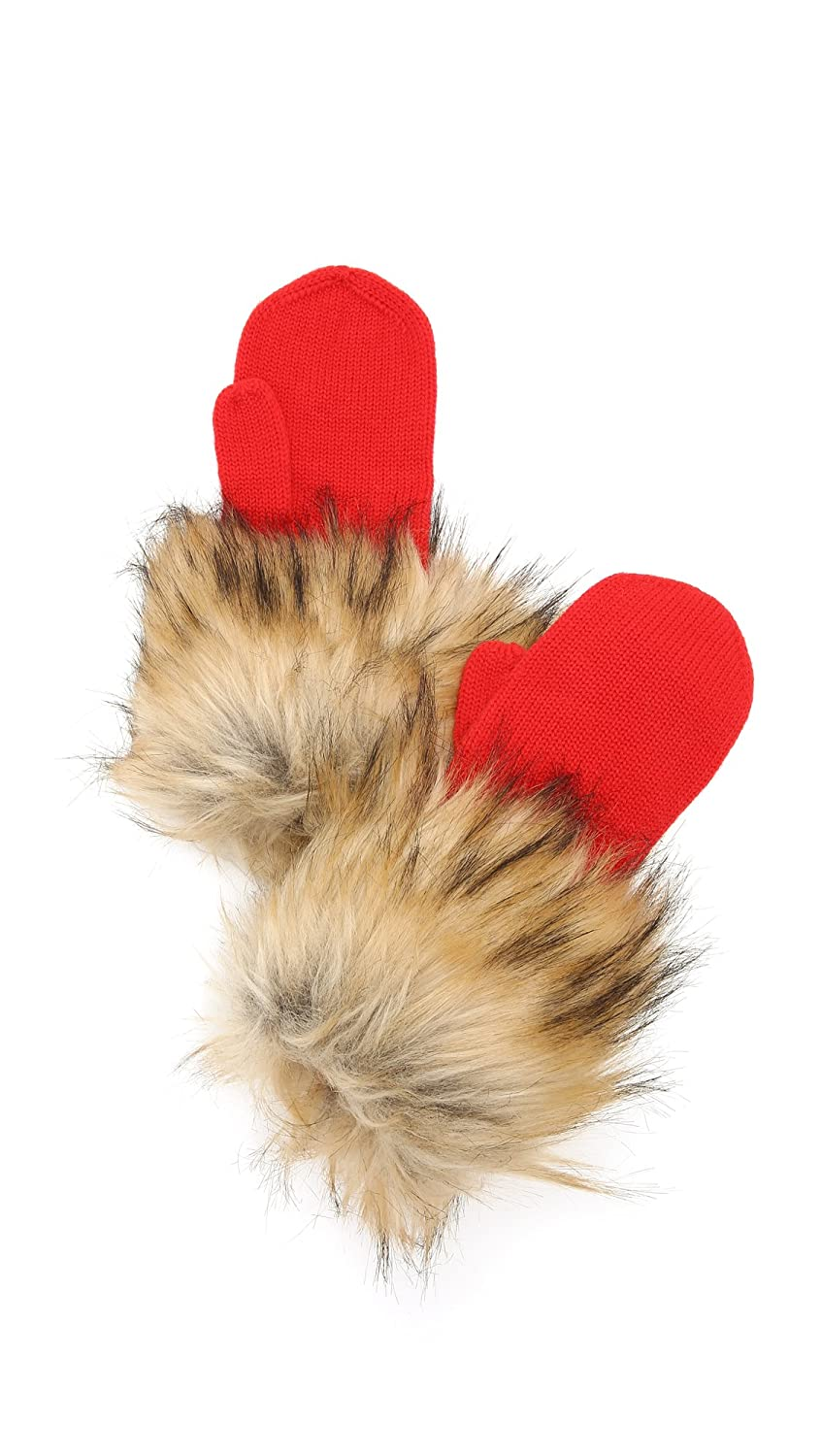 Kate Spade New York Women's Woodland Critters Mittens Fairytale Red One Size