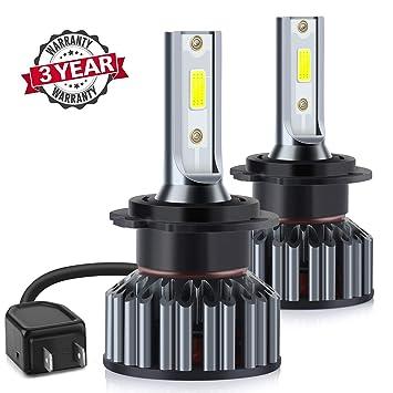 H7 LED Faros Delanteros Bombillas de Coches 10000LM 6000K- 3 años de garantía: Amazon.es: Coche y moto