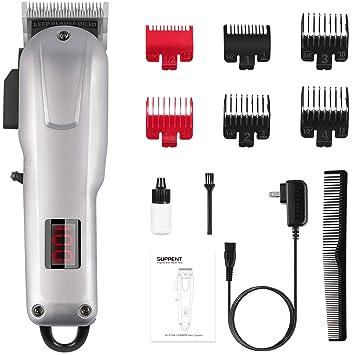 Cortadora de pelo sin cable para hombres SUPRENT, Kit de corte de pelo profesional con iones de l...