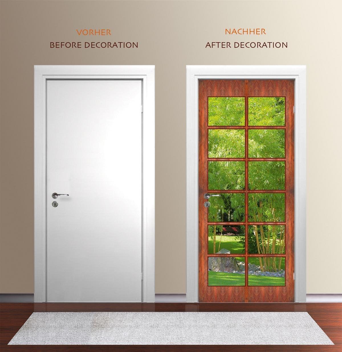 Amazon ドア壁紙 木製ドア 壁紙