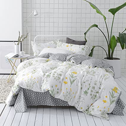 Amazon.com: VClife Floral Duvet Cover Sets Full Queen Bedding Sets ...
