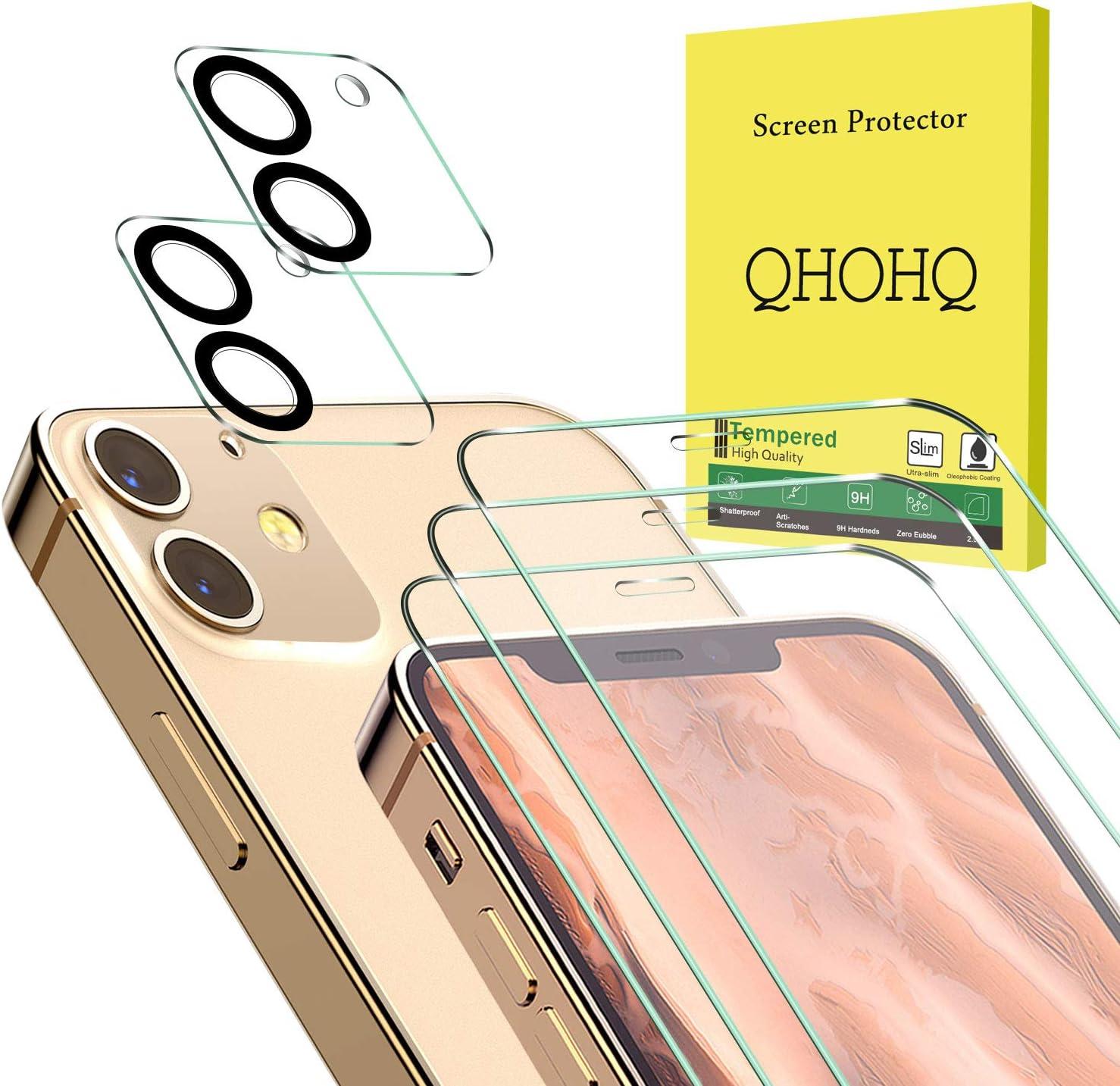 QHOHQ 3 Piezas Protector de Pantalla para iPhone L2 [6.1