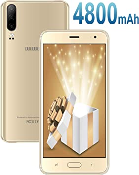 Moviles Libres Baratos 4G Android 9.0, J5+(2019) 16GB ROM/128GB Extensión 5.5 Pulgadas Full-Screen 4800mAh Cámara 8MP+5MP Smartphone Libre Quad-Core Dual SIM GPS Bluetooth Moviles baratos y buenos Oro: Amazon.es: Electrónica